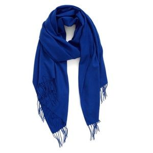 Tissue Weight Wool & Cashmere Scarf Blue